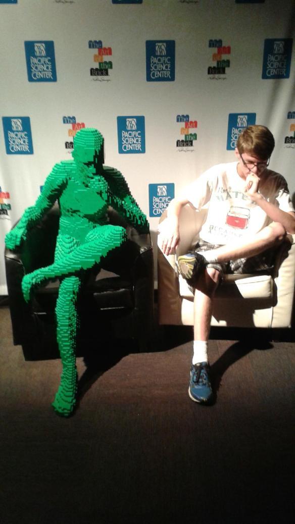 Josh Posing with LEGO