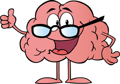 Brain Cartoon Character Giving The Thumbs Up